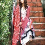 Embroidered Lawn suit with pure chiffon dupatta