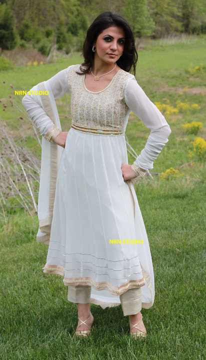 White color Frock Dress