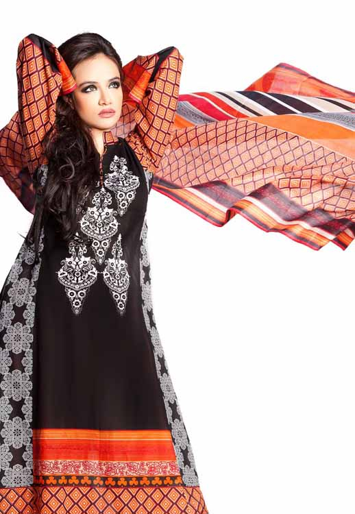 Embroiderd lwan prints by House ofIttehad