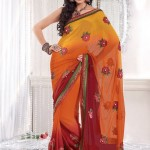 New trend of indian saree 2012