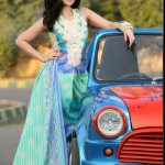Taxi photo shoot lawn prints collection with Ayesha by House of Ittehad