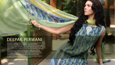 deepak perwani lawn collection 2012 by orient textiles