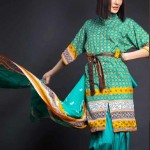 evening wear dresses lawn prints 2012 by House of Ittehad