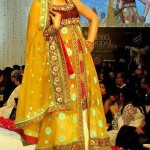 Beautiful Mehndi And Sangeet Dresses 2012