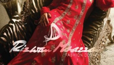 Hot Party Wear embroidered dresses by Rizwan Moazzam