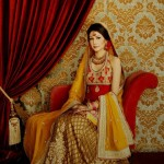Latest Mehndi And Sangeet Dresses 2012 by Sanz