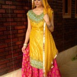 Mehndi And Sangeet Dress collection 2012