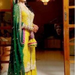 Mehndi And Sangeet Dresses 2012 by sanz collections