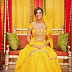 Pakistani Mehndi And Sangeet Dresses 2012