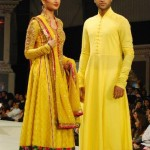 Yellow color Sanz dress for Bridals and groom
