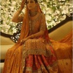 yellow color Mehndi And Sangeet Dresses 2012