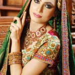 Bridal Wear Makeup and jewelry 2012