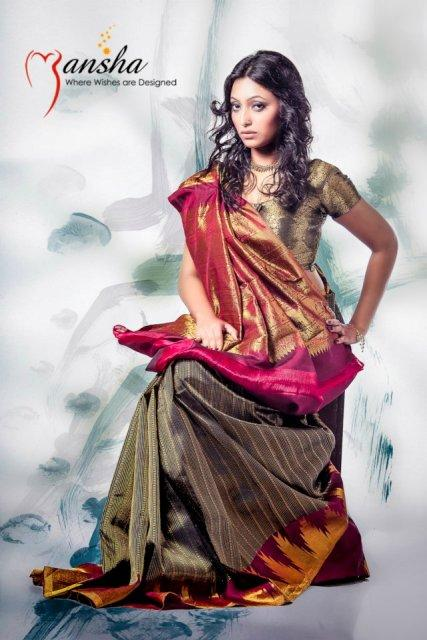 Mansha saree collection 2012 for wedding
