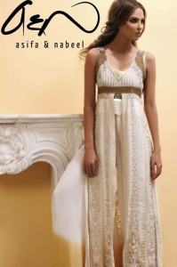 Asifa Nabeel Women Party Wear Fashion Dresses latest Collection 2012-13