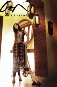 Asifa Nabeel Womens couture Party Wear Dresses latest Collection 2013