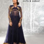 Asifa Nabeel women black facny frocks new paaty wear dresses 2013-12