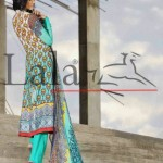 Brocade Summer Lawn Collection by Lala Textiles 2012 for Girls