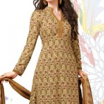 Captivating Cream Crepe by Designer Cotton Dress Salwar Suit