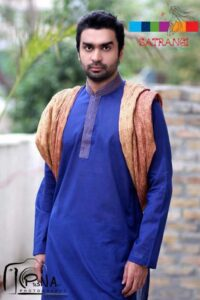 Casual Kurta Dress Collection 2012-2013 for man Satrangi by Saqib