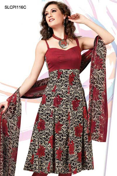 Designer Cotton Dress Adorable Black Crepe Salwar Suit for women