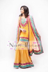 Exclusive Mehndi Dresses Collection by Noorz Boutique