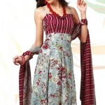 Latest Eye Catchy Grey Crepe Printed Salwar Suit by Designer Cotton Dress