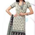 Flora Off White Crepe Salwar Suit Designer Cotton Dress