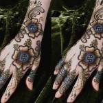 Glitter hand Mehndi designs