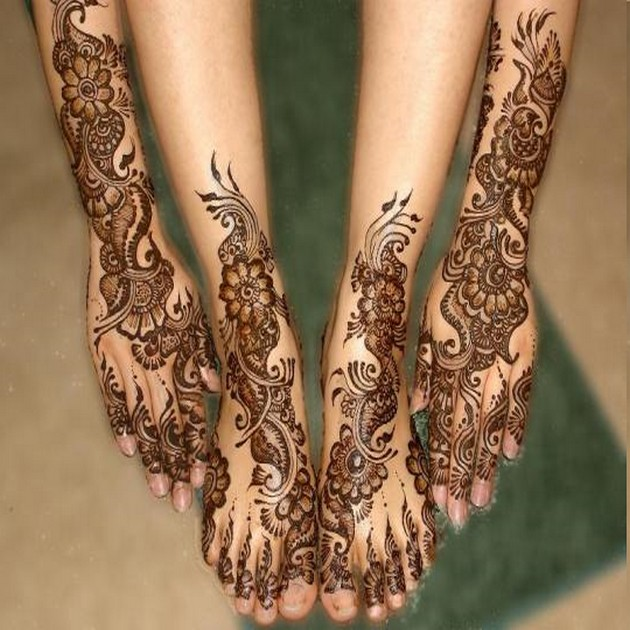 Hand Feet Henna Designs for Eid