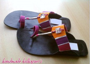 Hand Made Kolhapuri Footwear Eid 2012 For Girls