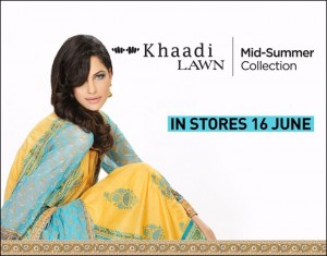 Khaadi's Mid-Summer Lawn Collection 2012 for women