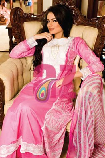 Latest dress collection by Mahiymaan Designer Lawn