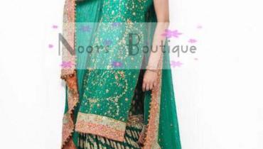 Noors Boutique Exclusive Mehndi Sharara Lehnga Dresses Collection