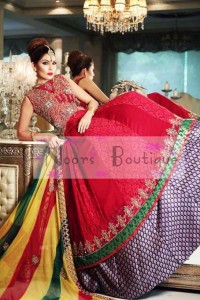 Pakistani Indian bridal mehandi dresses