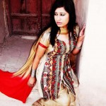 Pakistani Indian women traditional dresses for Eid Holi Short Shirt with a Fallery Shalwar to give a Traditional look