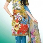 Party wear Printed Summer Eid Salwar Kameez Collection 2012 For Girls