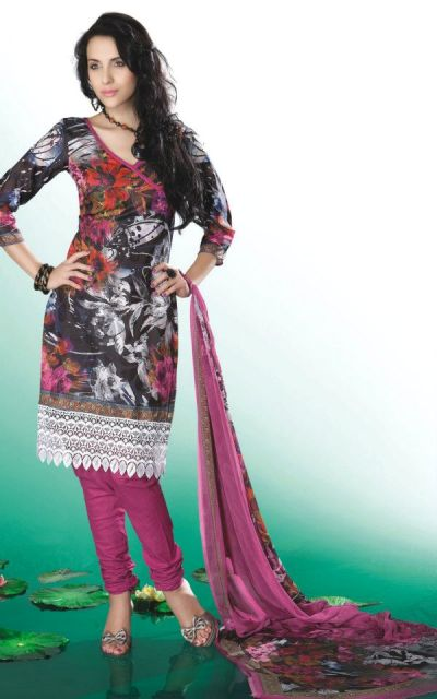 Printed Summer Eid Salwar Kameez Collection 2012 For Girls