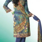 Printed Summer Eid Salwar Kameez outfits 2012 For Girls