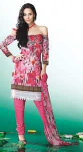 Printed party wear Summer Eid Salwar Kameez Collection 2012 For Girls