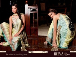 Reeva Designer Summer Lawn dresses 2012 by Shariq Textiles