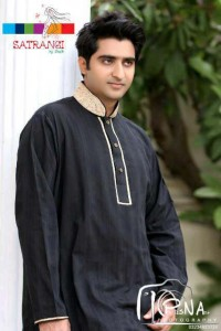 Satrangi by Saqib Male Kurta Collection 2012