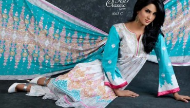 Stylish prints Star Classic Lawn Vol-3 Collection 2013 By Naveed Nawaz Textiles