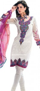 Summer Cotton Suits with Chiffon Dupatta 2012 collection for Girls