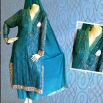 Turn Style Green copper color outfits summer collection 2012 for women
