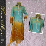 Turn Style Mustard ferozi summer dress collection 2012 for women