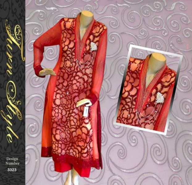 Turn Style Orange red Ready to wear summer collection 2012-13 for women
