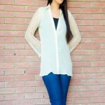 Women stylish Tops latest embroidered fashion 2012-13 outfits casual wear by Sarah