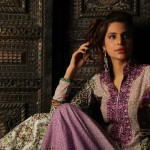 combination of Purple white and green Sabihas Designer Lawn-2013-12
