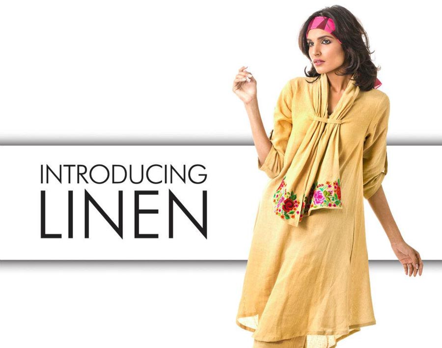 khaadi latest linen collection 2012-13 for women