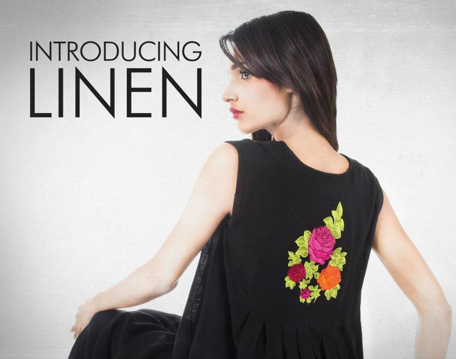 khaadi latest linen collection 2012 sleevesless for women